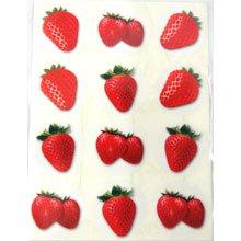 מדבקות פירות - תות שדה