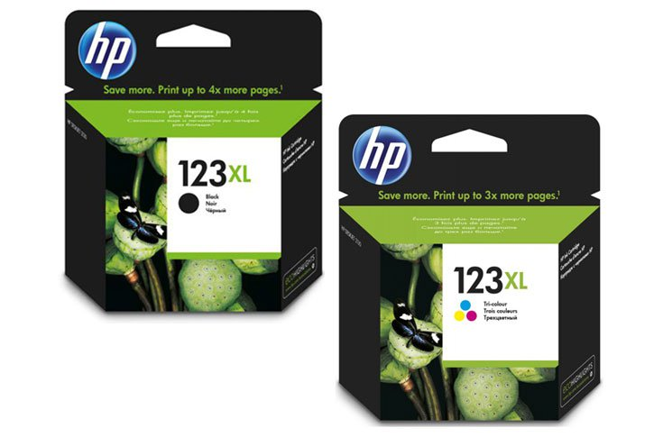 זוג ראשי דיו מקוריים 123XL)- HP F6V19AE +F6V18AE)