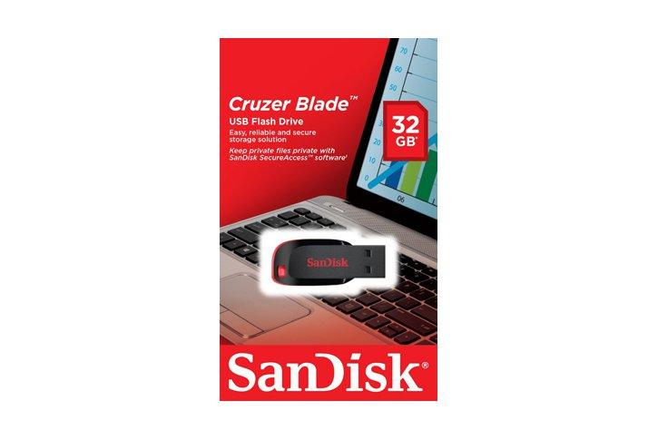 זכרון USB נייד SanDisk Cruzer Blade Z50 נפח 32GB