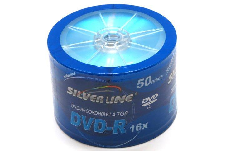 לצריבה - SILVER LINE DVD-R 4.7GB 120Min X16