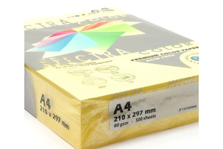 נייר צילום צהוב 80 גרם ,גודל A4 בחבילה 500 דף